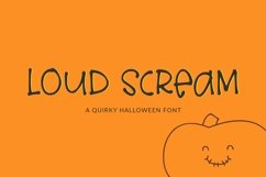 Web Font Loud Scream - a quirky halloween font Product Image 1