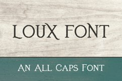 Loux font Product Image 1