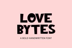 Web Font Love Bytes - a quirky bold handwritten font Product Image 1