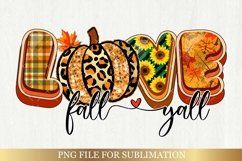 Fall Sublimation Bundle - Love Fall Yall Png Autumn Vibes Product Image 2