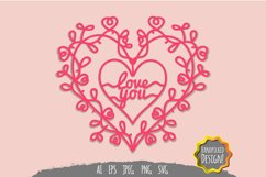 Love You Papercut SVG Product Image 2