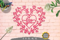 Love You Papercut SVG Product Image 1