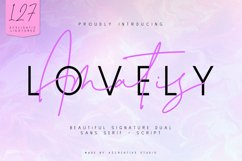 Lovely Amatis - Beautiful Signature Dual Product Image 1