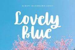 Web Font Lovely Blue - Script Handrawn Font Product Image 1