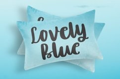 Web Font Lovely Blue - Script Handrawn Font Product Image 6