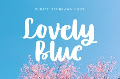 Lovely Blue - Script Handrawn Font Product Image 1