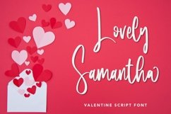 Web Font Lovely Samantha - Valentine Script Font Product Image 1