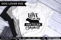 Dog SVG, Love My Anatolian Shepherd SVG