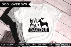 Love My Basenji dog SVG