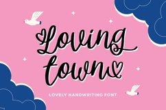 Lovingtown - Lovely Handwriting Font Product Image 1