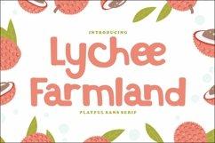 Lychee Farmland - Playful Sans Serif Font Product Image 1