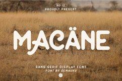 Macane - Sans Serif Display Font Product Image 1