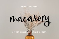 macarons - Sweet Handlettering Font Product Image 1