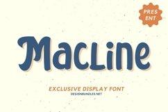 Web Font Macline Font Product Image 1