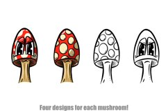 Toadstools and Mushrooms Cartoon Characters and Designs Product Image 2