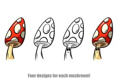 Toadstools and Mushrooms Cartoon Characters and Designs Product Image 3