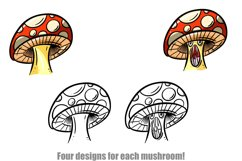 Toadstools and Mushrooms Cartoon Characters and Designs Product Image 6