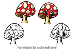 Toadstools and Mushrooms Cartoon Characters and Designs Product Image 4