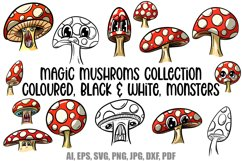 Toadstools and Mushrooms Cartoon Characters and Designs Product Image 1