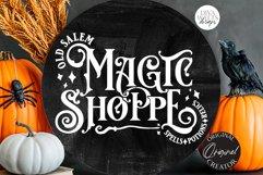 Old Salem Magic Shoppe SVG | Halloween Design Product Image 4