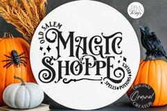 Old Salem Magic Shoppe SVG | Halloween Design Product Image 5