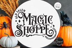 Old Salem Magic Shoppe SVG | Halloween Design Product Image 2