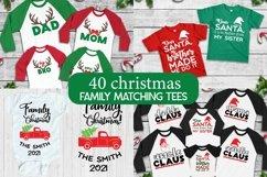 Christmas Family Matching tee svgs, Christmas svg bundle Product Image 1