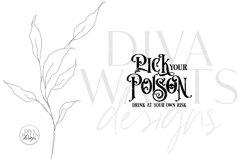 Pick Your Poison SVG | Drink At Your Own Risk Halloween Typo Product Image 3
