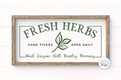 Fresh Herbs SVG | Farmhouse Garden Sign SVG Product Image 1