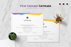 First Concept Certificate Product Image 1