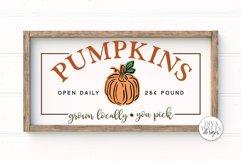 Pumpkins SVG | Farmhouse Autumn Pumpkin Patch Sign Product Image 1