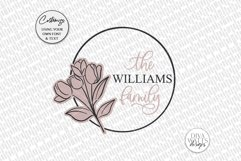 Tulip Monogram SVG | Family Monogram Sign Design Product Image 2
