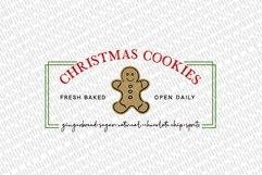 Christmas Cookies SVG   Christmas Sign Design   Farmhouse SV Product Image 2