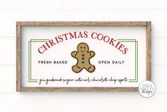 Christmas Cookies SVG   Christmas Sign Design   Farmhouse SV Product Image 1