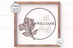 Tulip Monogram SVG | Family Monogram Sign Design Product Image 1