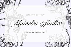 Web Font Mainclen Studies Font Product Image 1