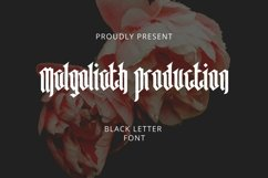Web Font Malgoliath Font Product Image 1