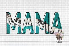 Mama Cowhide Abstract PNG File / Sublimation Clipart File Product Image 1