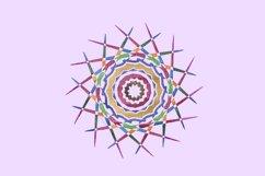 Mandala colorful embroidery Product Image 1