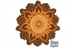 Flower mandala SVG, DXF cut files, 3d layered mandala svg. Product Image 4