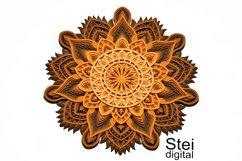 Flower mandala SVG, DXF cut files, 3d layered mandala svg. Product Image 3