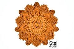 Flower mandala SVG, DXF cut files, 3d layered mandala svg. Product Image 2
