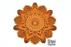 Flower mandala SVG, DXF cut files, 3d layered mandala svg. Product Image 1