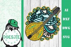 Mandolin SVG layered mandala music instrument 3D bluegrass Product Image 3