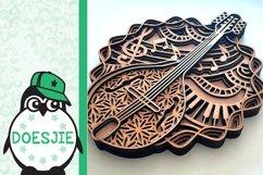 Mandolin SVG layered mandala music instrument 3D bluegrass Product Image 5