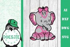 Layered baby elephant Multi layer mandala cute baby elephant Product Image 1
