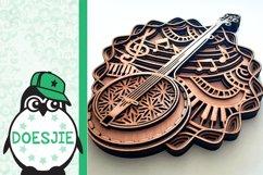 Banjo SVG layered mandala music instrument 3D bluegrass Product Image 5