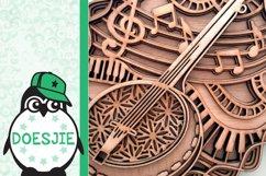 Banjo SVG layered mandala music instrument 3D bluegrass Product Image 6