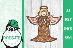 Christmas angel svg layered mandala multi layer xmas angel Product Image 2