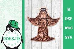 Christmas bundle layered 5 designs 3d mandala zentangle svg Product Image 6